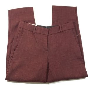 Ann taylor Womens maroon kate fit dress pants 2